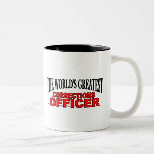 The World's Greatest Corrections Officer Two-Tone Coffee Mug