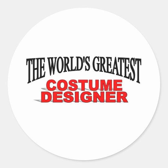 The World's Greatest Costume Designer Classic Round Sticker