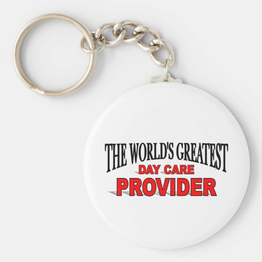 The World's Greatest Day Care Provider Basic Round Button Key Ring