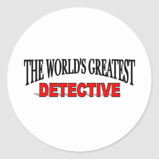 The World's Greatest Detective Round Sticker