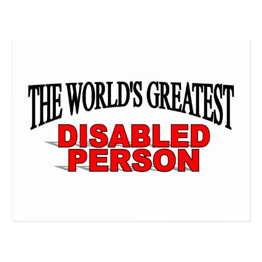 The World's Greatest Disabled Person Postcard