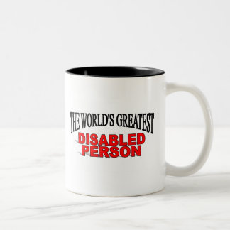 The World's Greatest Disabled Person Two-Tone Coffee Mug