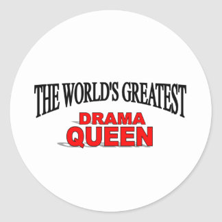 The World's Greatest Drama Queen Classic Round Sticker