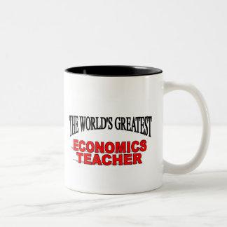 The World's Greatest Economics Teacher Two-Tone Mug