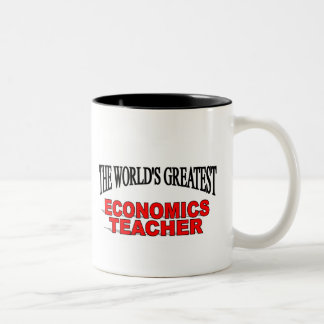 The World's Greatest Economics Teacher Two-Tone Coffee Mug