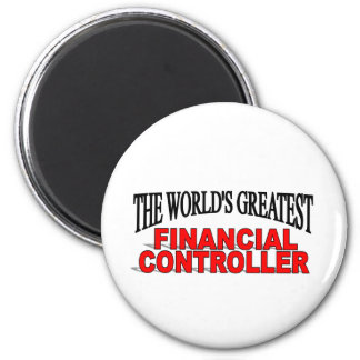 The World's Greatest Financial Controller 6 Cm Round Magnet