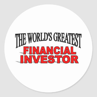 The World's Greatest Financial Investor Classic Round Sticker