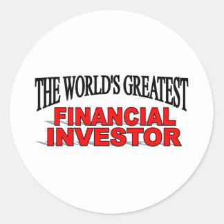 The World's Greatest Financial Investor Round Sticker