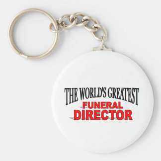 The World's Greatest Funeral Director Basic Round Button Key Ring