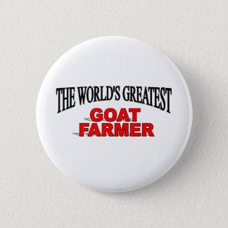 The World's Greatest Goat Farmer 6 Cm Round Badge