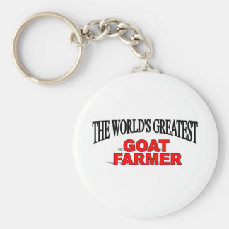 The World's Greatest Goat Farmer Basic Round Button Key Ring