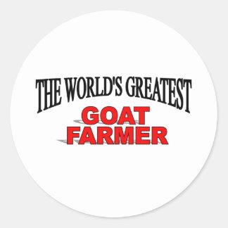 The World's Greatest Goat Farmer Classic Round Sticker