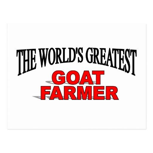 The World's Greatest Goat Farmer Postcard
