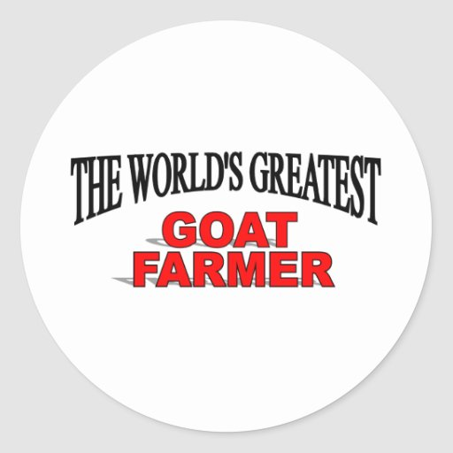 The World's Greatest Goat Farmer Stickers