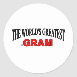 The World's Greatest Gram Round Stickers