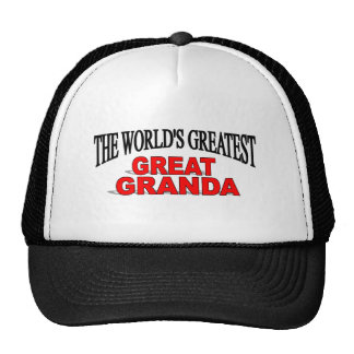 The World's Greatest Great Granda Cap