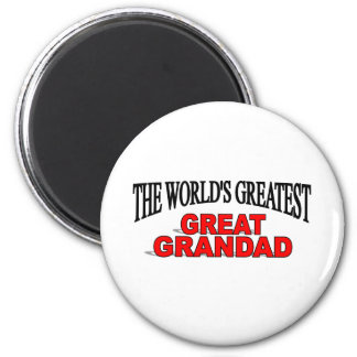 The World's Greatest Great Grandad 6 Cm Round Magnet