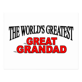 The World's Greatest Great Grandad Postcards