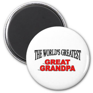 The World's Greatest Great Grandpa 6 Cm Round Magnet