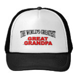 The World's Greatest Great Grandpa Hats