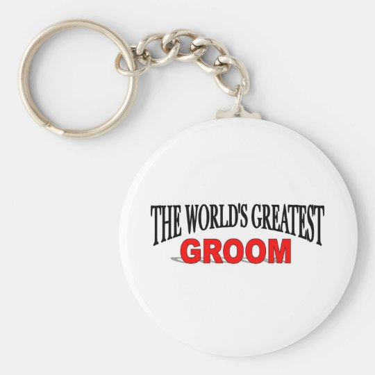 The World's Greatest Groom Basic Round Button Key Ring