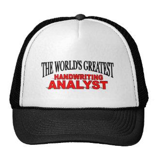 The World's Greatest Handwriting Analyst Cap