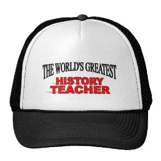The World's Greatest History Teacher Mesh Hats