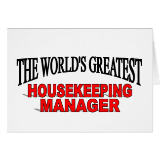 The World's Greatest Housekeeping Manager Card
