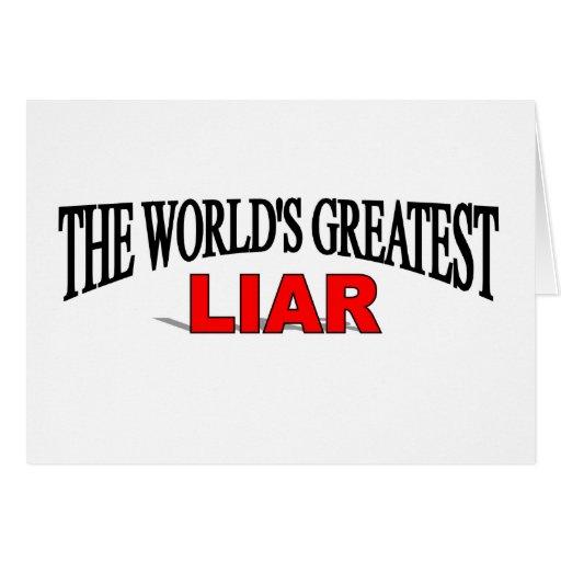 The World's Greatest Liar Card