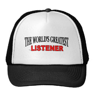 The World's Greatest Listener Hats