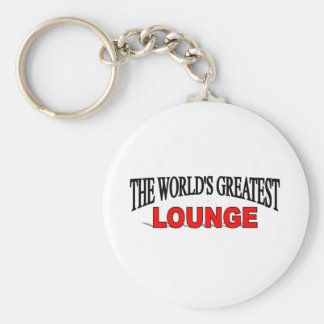 The World's Greatest Lounge Basic Round Button Key Ring