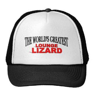 The World's Greatest Lounge Lizard Trucker Hat