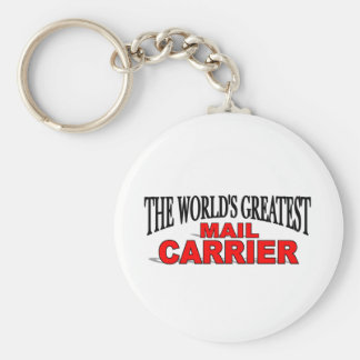 The Worlds Greatest Mail Carrier Basic Round Button Key Ring