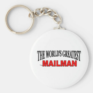 The World's Greatest Mailman Basic Round Button Key Ring