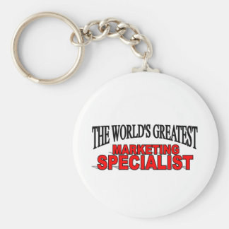 The World's Greatest Marketing Specialist Basic Round Button Key Ring