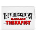 The World's Greatest Massage Therapist Cards