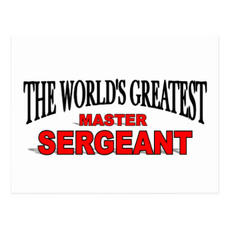 The World's Greatest Master Sergeant Postcard