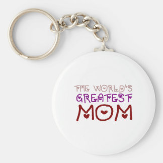 The World's Greatest Mom (Mother's Day & Birthday) Basic Round Button Key Ring