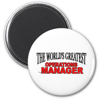 The World's Greatest Operations Manager 6 Cm Round Magnet