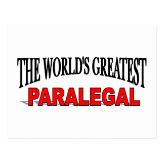 The World's Greatest Paralegal Postcard