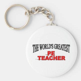The World's Greatest PE Teacher Keychains