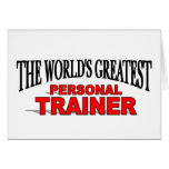 The World's Greatest Personal Trainer Greeting Cards