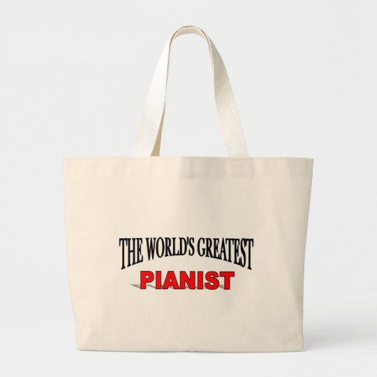 The World's Greatest Pianist Large Tote Bag