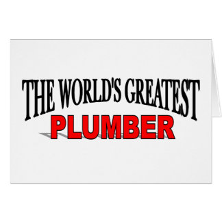 The World's Greatest Plumber Card
