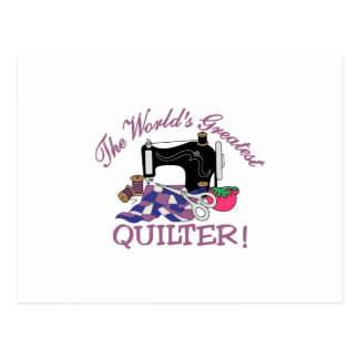 The Worlds Greatest Quilter Postcard