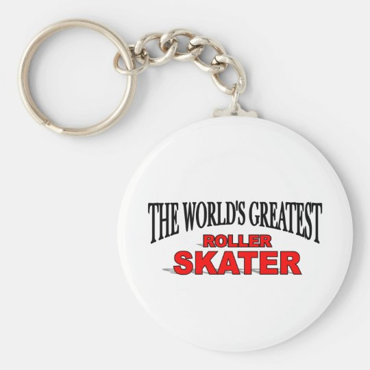 The World's Greatest Roller Skater Basic Round Button Key Ring
