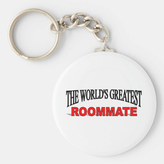 The World's Greatest Roommate Basic Round Button Key Ring