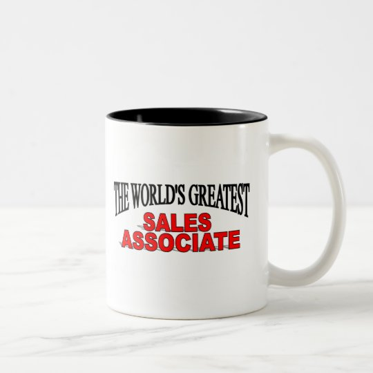 The World's Greatest Sales Associate Two-Tone Coffee Mug