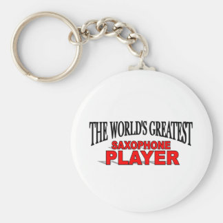 The World's Greatest Saxophone Player Basic Round Button Key Ring