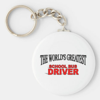 The World's Greatest School Bus Driver Basic Round Button Key Ring